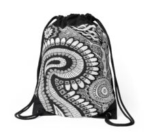 Black and White Design # 01 Drawstring Bag