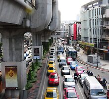 Bangkok traffic by nigyoung
