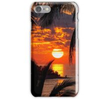 Sunset at Kandooma Island iPhone Case/Skin
