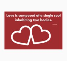 Love is composed of a single soul inhabiting two bodies. One Piece - Short Sleeve