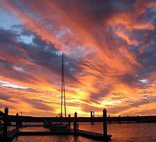 Blazing Sunset at Wirrina cove by Christine Keech