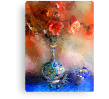 Poppies and Glass Marbles Metal Print