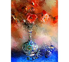 Poppies and Glass Marbles Photographic Print