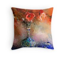 Poppies and Glass Marbles Throw Pillow
