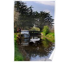 Ballyellin Lower lock, The Barrow Navigation, County Carlow, Ireland Poster
