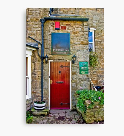 The Kirk Inn - Romaldkirk Co Durham Canvas Print