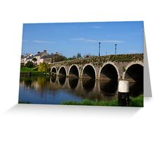 The Bridge at Goresbridge, County Kilkenny, Ireland Greeting Card