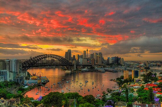 Oh What a Beautiful Morning - Moods Of A City,Sydney Australia - The HDR Experience by Philip Johnson