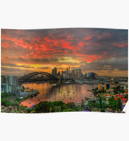Oh What a Beautiful Morning - Moods Of A City,Sydney Australia - The HDR Experience Poster