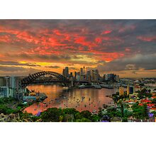 Oh What a Beautiful Morning - Moods Of A City,Sydney Australia - The HDR Experience Photographic Print