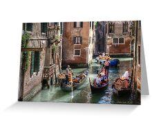 ...traffic jam in Venice.. Greeting Card