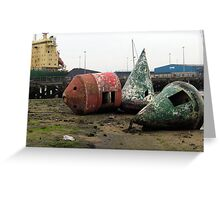 87 - OLD BUOYS AT CAMBOIS (D.E. 2009) Greeting Card