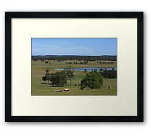 Hunter Valley Farmlands Framed Print