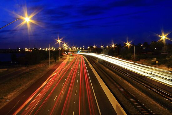 Kwinana Freeway At Dusk  by EOS20