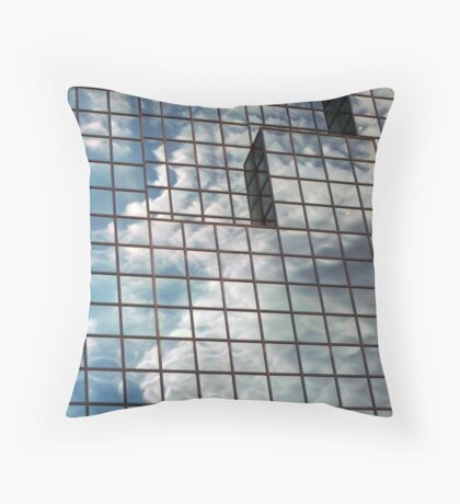 windows in blue Throw Pillow