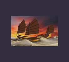 Chinese Junk in Rough Seas Unisex T-Shirt