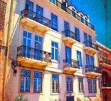 fachada pombalina. 18th century architecture. lisbon by terezadelpilar~ art & architecture