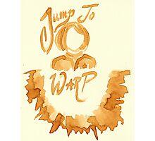 Jump To Warp - Captain Coffee - Coffee Wash Photographic Print
