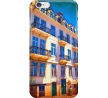 fachada pombalina. 18th century architecture. lisbon iPhone Case/Skin