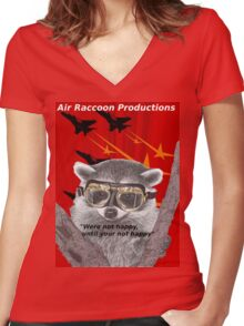 Air Raccoon Productions Women's Fitted V-Neck T-Shirt
