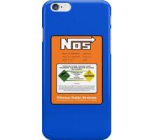 NOS Nitrous Bottle Label iPhone Case/Skin