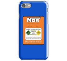 NOS Nitrous Bottle Label iPhone Case/Skin