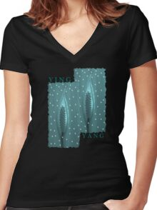 ☯☯ Y & Y ☯ ☯ - JUSTART © Women's Fitted V-Neck T-Shirt