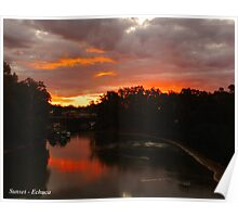 Echuca sunset Poster