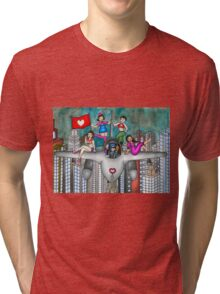 The Jet Fighter's Tour of Love Tri-blend T-Shirt