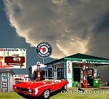 Texaco Filling Station by Mike Pesseackey (crimsontideguy)