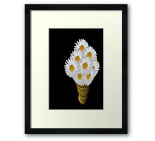 Daisies in a Vase Framed Print