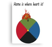 Calcifer - Home is where heart is Canvas Print