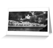 Clouds over Ontario lake Greeting Card