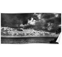 Clouds over Ontario lake Poster