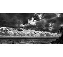Clouds over Ontario lake Photographic Print