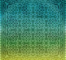 Pixel Pattern Green/Yellow by likelikes