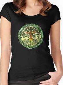 Celtic Tree of Life Women's Fitted Scoop T-Shirt