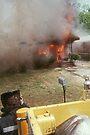 Smoke and fire showing by Larry  Grayam