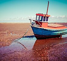Fishing boat, Meols, Wirral by Beverley Goodwin