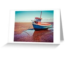 Fishing boat, Meols, Wirral Greeting Card