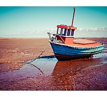 Fishing boat, Meols, Wirral Photographic Print