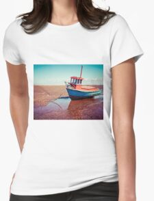 Fishing boat, Meols, Wirral Womens Fitted T-Shirt