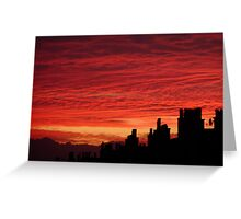 The sky at night Greeting Card