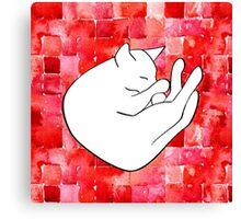 Snoozing cat Canvas Print