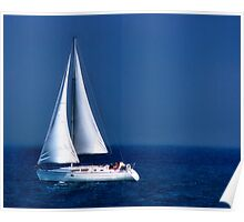 drifting on a sapphire sea  Poster
