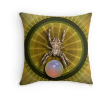 The modern spider web Throw Pillow