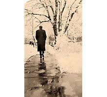 Vintage Walk in the Snow Photographic Print