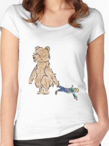 baby bears favorite doll Women's Fitted Scoop T-Shirt