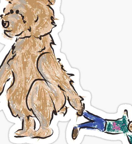 baby bears favorite doll Sticker