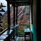 Mountain view from a tea house balcony by Erdj